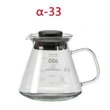 BHG605S-B 605cc咖啡壺-黑(玻把)