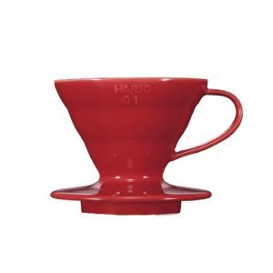 HARIO V60 紅色01磁石濾杯 VDC-01R