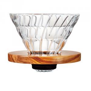 V60橄欖木玻璃濾杯 02 VDG-02-OV